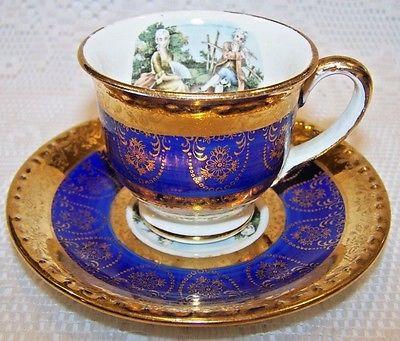 Homer Laughlin Demitasse Tea Cup & Saucer Eggshell Georgian