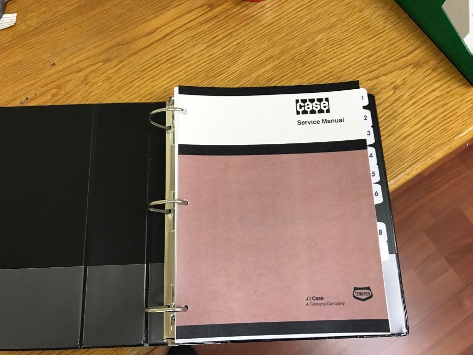 CASE 480C/480CK C Loader Backhoe Service Manual Repair Shop Book NEW with Binder