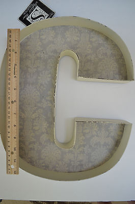 Shabby chic monogram 'C' french country letter