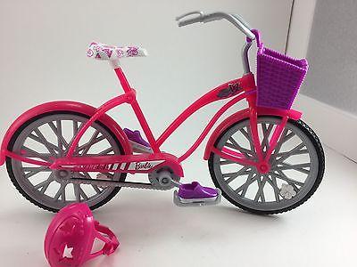 MATTEL BARBIE BICYCLE WITH BASKET AND  HELMET 11