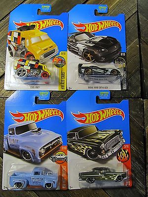 Hot Wheels Kmart KDay Exclusive Set 56 Ford Truck, 55 Chevy, Dodge Viper K-Day