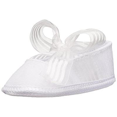 Baby Deer 9574 White Infant Shantung Ballet Flats Shoes 4 Medium (B,M) BHFO
