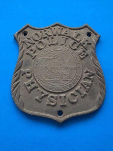Vintage Norwalk CT Police Physician Car Badge