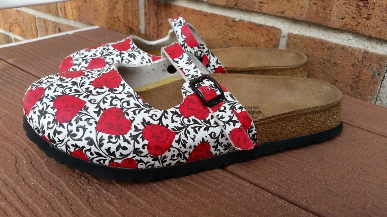 Birkis Birkenstock Heart Valentines Clog Mary Jane Shoes Size EUR 40/ US 9.5-10