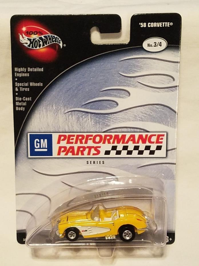 Hot Wheels 100% Preferred GM Performance Parts Yellow 58 Corvette!