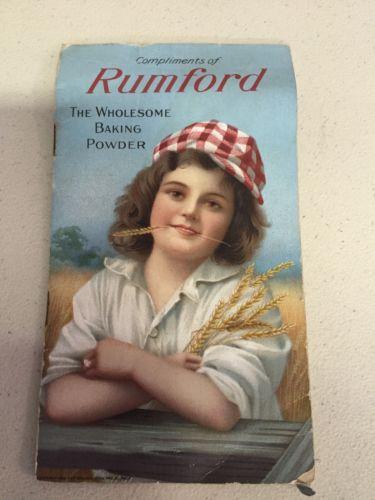 Vintage Rumford Recipe Booklet