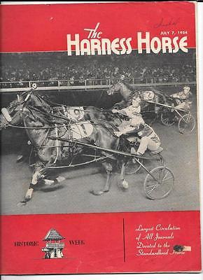 1954 HARNESS HORSE RACING MAGAZINE Jul 7, 1954 Historic Week