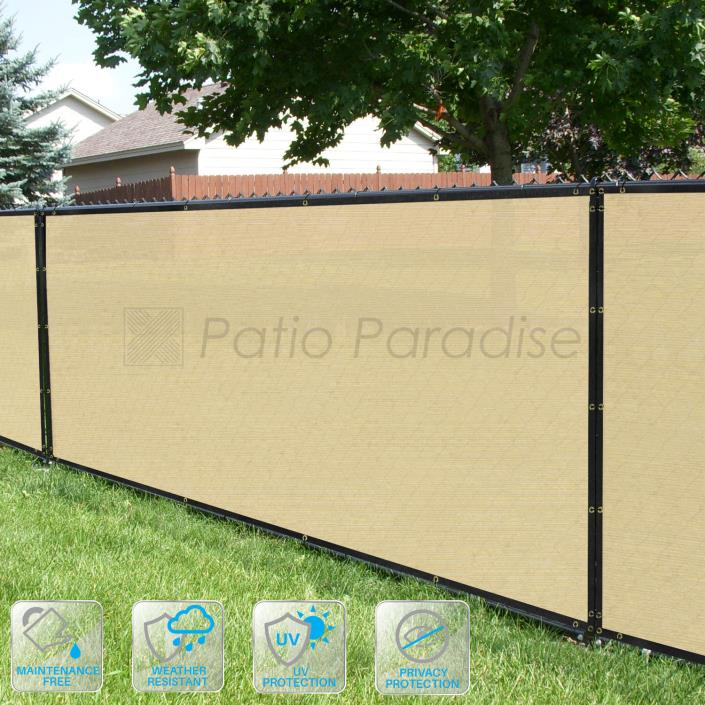 Black Brown Green Fence Windscreen Privacy Screen Shade Cover Fabric Mesh Garden
