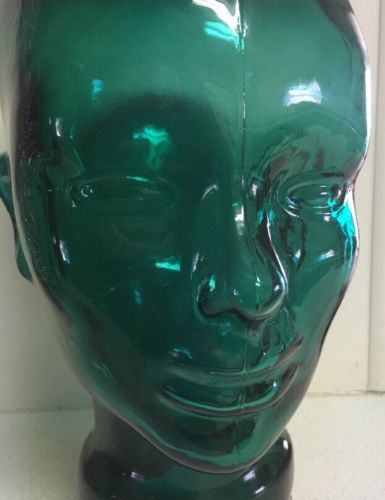 Life-size Aqua Glass MANNEQUIN HEAD