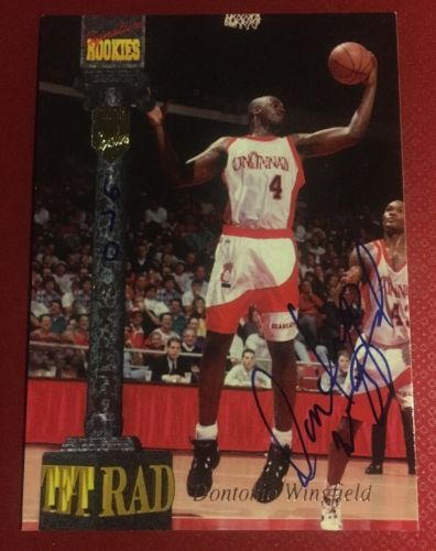 1994 Dontonio Wingfield Cincinnati Basketball Autograph Signature Rookies Card