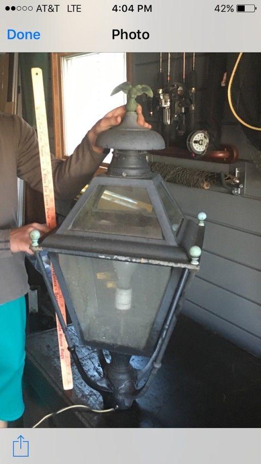 Antique Vintage Street Light, Street Lamp Vintage Cast Brass ornaments