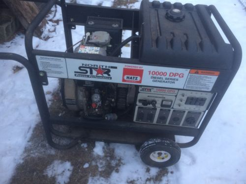 North Star 10000 Watt Generator Hatz 1D81 Diesel Engine Portable Only 2.4 Hours!