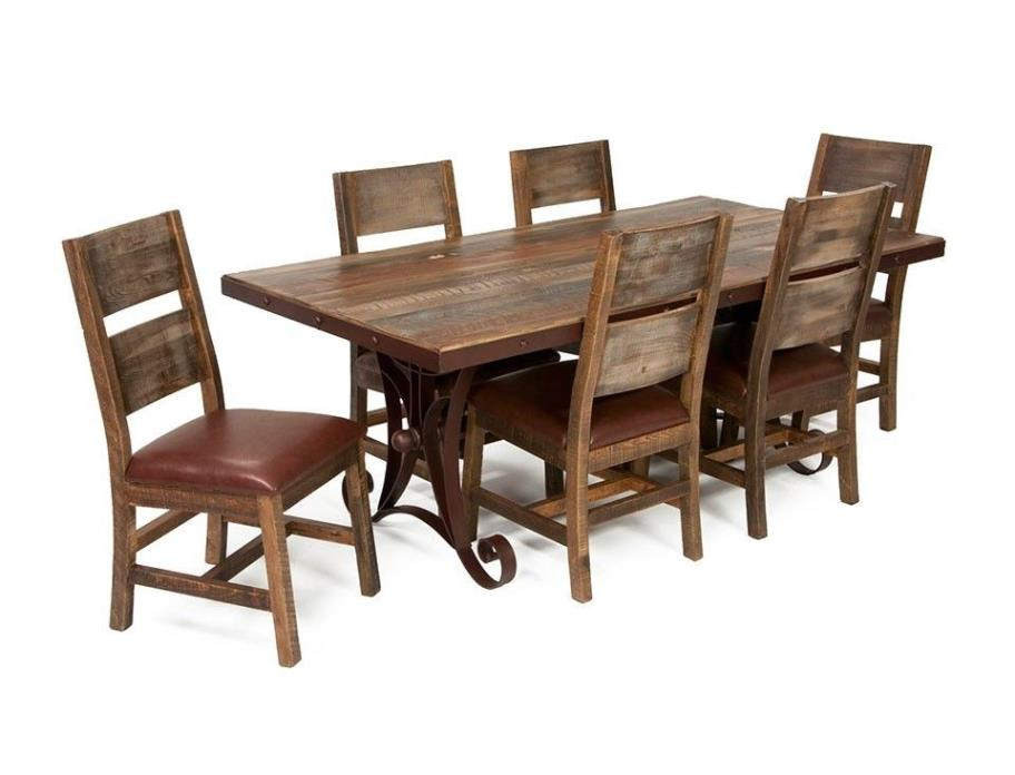 Rustic Dining Room Table Solid Wood Furniture barnwood look free shipping
