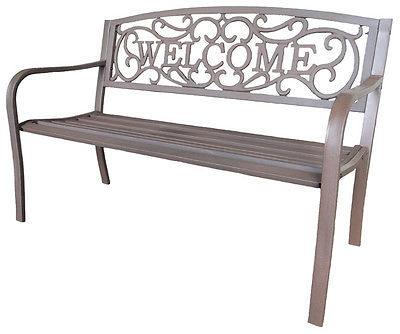 LB International Cast Iron Park Bench