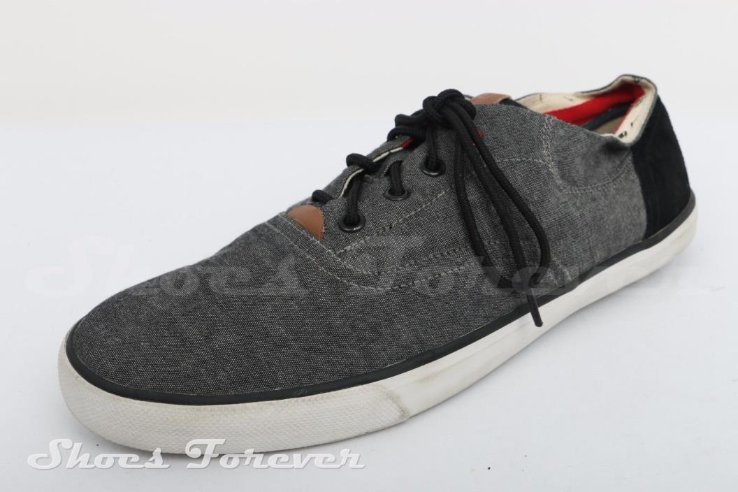 Mens Ben Sherman Gray Canvas Oxford Sneakers Sz. 11