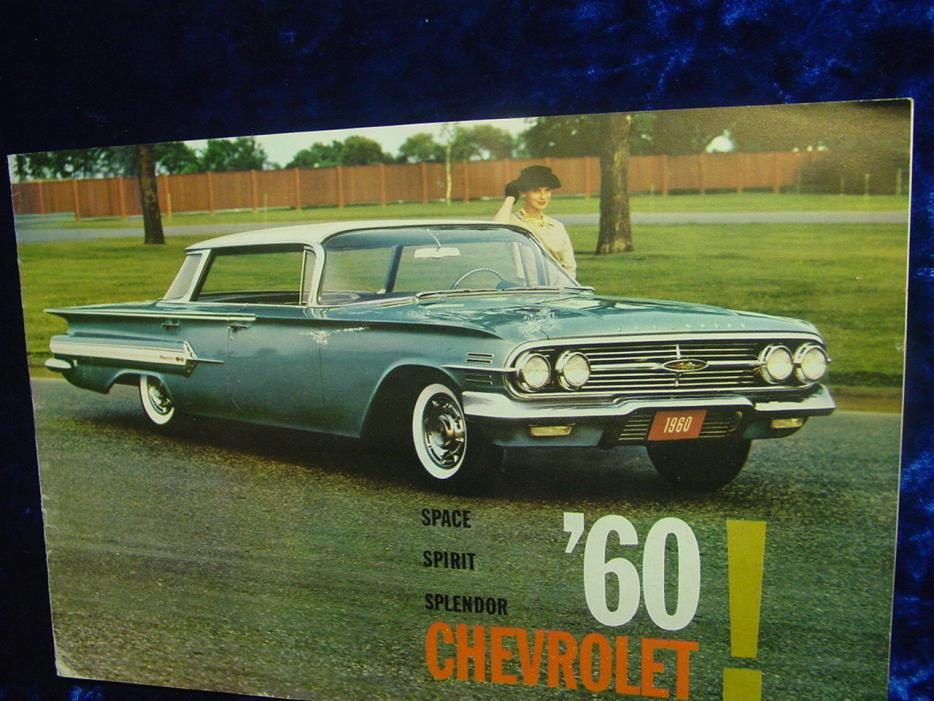 1960s CHERVROLET BROCHURE , CHEVY , CORVETTE BISCAYNE , 8 PAGES ,10 1/2