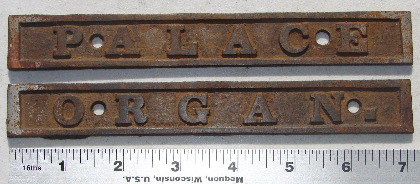 Palace Organ Antique Pump Organ Foot Pedal Name Plate Cast Iron Hardware Used