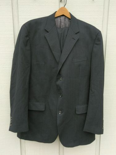 Chaps mens Gray pinstriped suit.