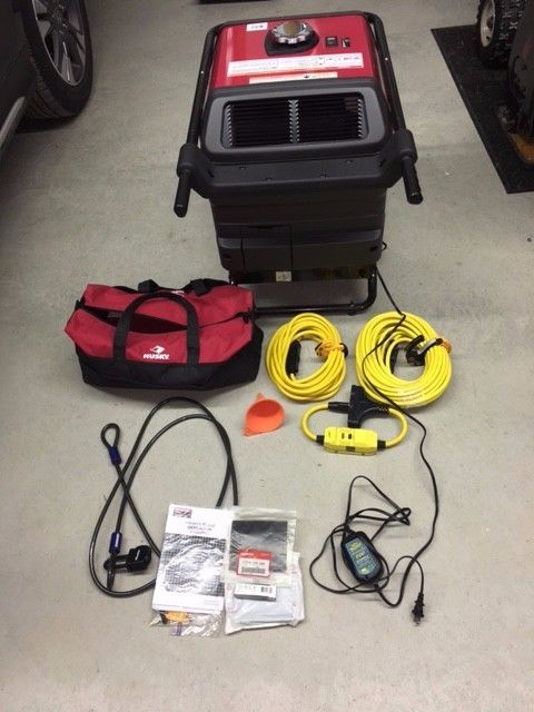 Honda Gas Generator EU3000is w/electric start & extras