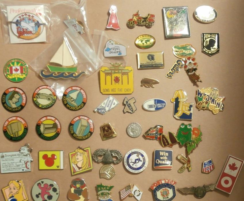 Lot of 50 Pins - Disney - Home Depot  Gators - Animals - Places & lots More