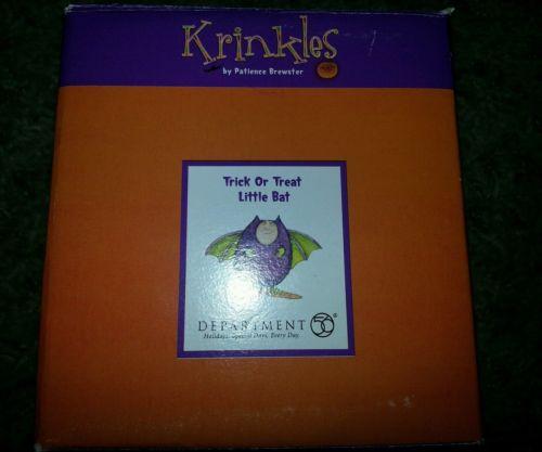 Patience Brewster Krinkles Halloween Trick or Treat Bat Dept 56