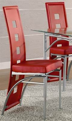 Los Feliz Dining Chair - Set of 2 (Red) [ID 1028070]