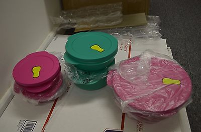 TUPPERWARE NEW CrystalWave get it all Set of 15 PC microwavable and refridgeratr