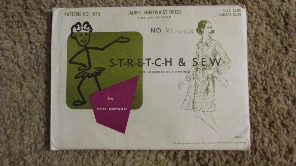 Stretch & Sew Ladies' Shirtwaist Dress #1575