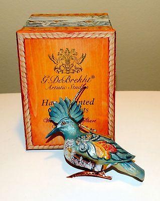 Debrekht Blue Woodpecker Clip On Ornament Blue Bird Christmas Decoration