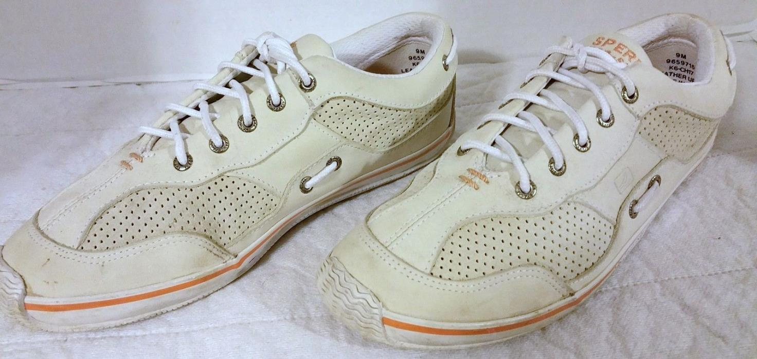 Women's Sperry Top-Sider Portside White Leather Sneakers