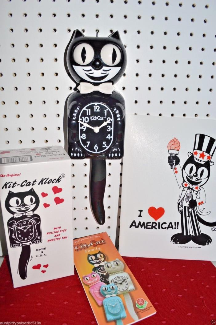 Black Kit Cat Clock Original Kit Cat Clock Made In USA, Ship Priority in 24 hrs.