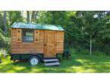 Hunting cabin on wheels toy hauler camper tiny house . to tra