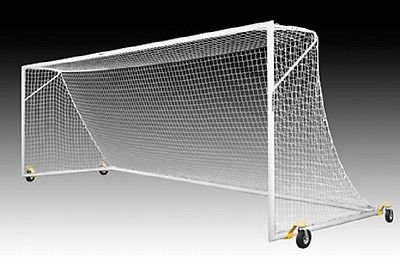 Kwik Goal Pro Premier European Match Soccer Goal with Swivel Wheels