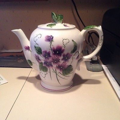 Sweet Violet China Lefton Teapot