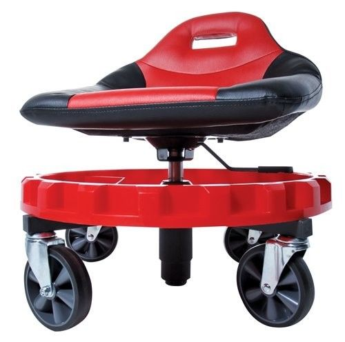Creeper Seat Mechanics Rolling Mobile Gear Adjustable Height Work Stool Auto