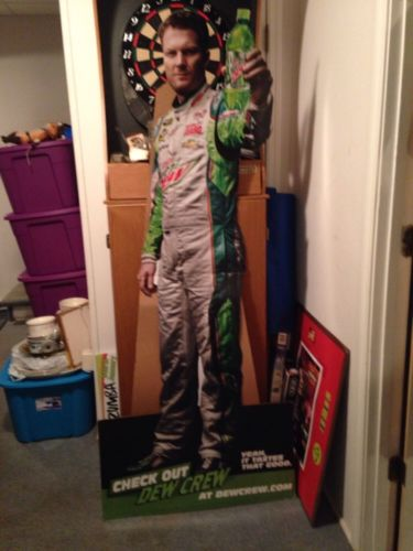 Dale Earnhardt Jr Mountain Dew Stand up Cut out Life Size 36