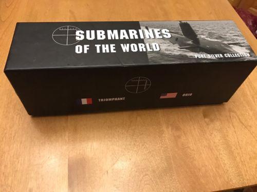 Fiji 2010 $2 Submarines of the World Typhoon Ohio 4 x 1 Oz Silver Proof Coin Set