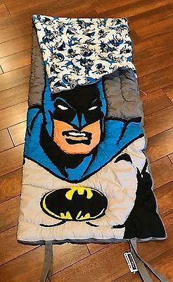 POTTERY BARN KIDS BATMAN Sleeping Bag DC COMICS Super Hero NWT!!