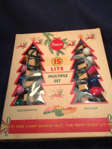 Vintage Christmas Lights 15 Lights