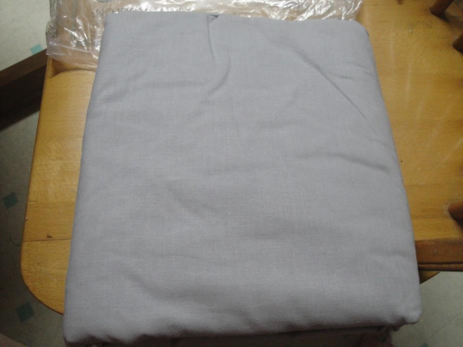 Vintage NOS NIP Cannon Cotton Fresh 60/40 No Iron Queen Fitted Sheet. Grey