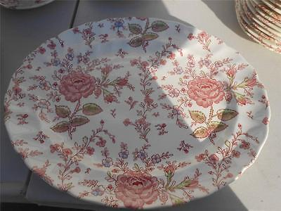 Johnson Bros Rose Chintz Serving Platter  England Mint COndition