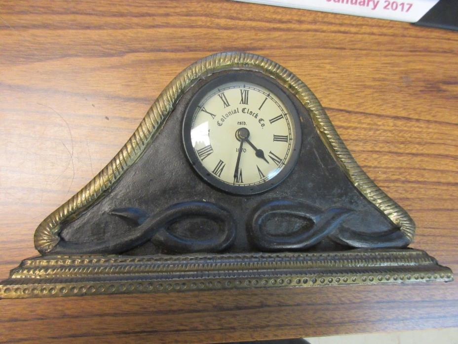 Colonial Clock - Battery Operated Wall/Desk clock.
