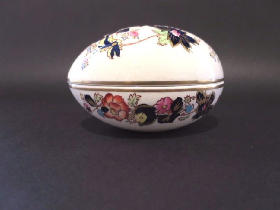 Vintage Masons Ironstone Egg Trinket Pin Box