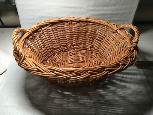 Child's Kids Toy Laundry Basket Wicker Vintage