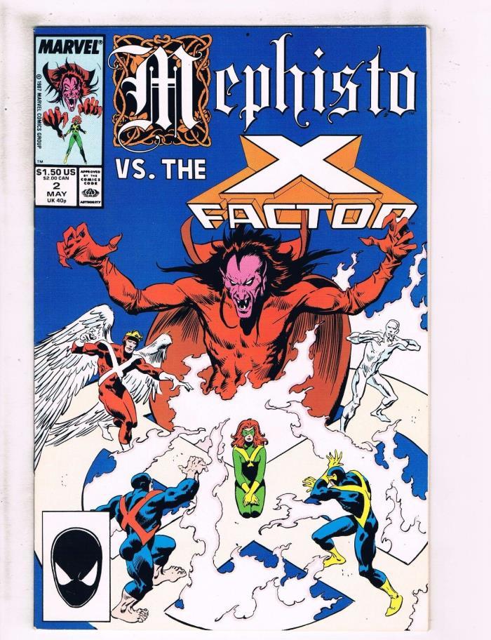 Lot Of 2 Mephisto Vs The X-Factor Marvel Comic Books # 2 & 3 X-Men Wolverine J95
