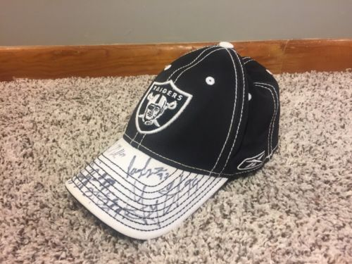 Oakland Raiders Signed Hat Nfl Team Apparel Reebok Signatures Unknown