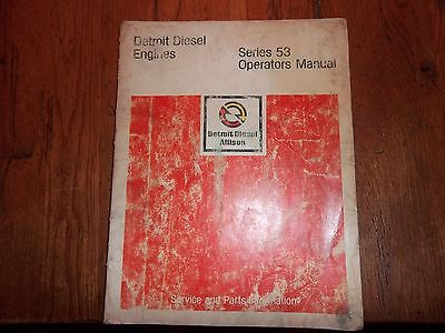 Detroit Diesel 53 Series Operators Manual
