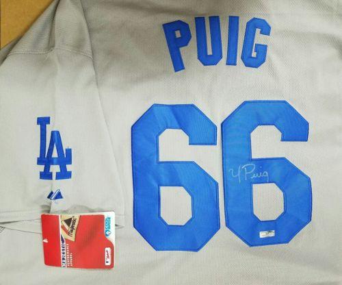 Yasiel Puig Autographed Baseball Jersey