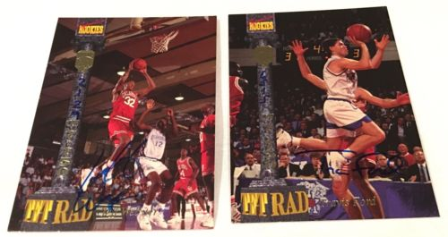 1994 Signature Rookies NBA Cards - Jeff Weber & Travis Ford