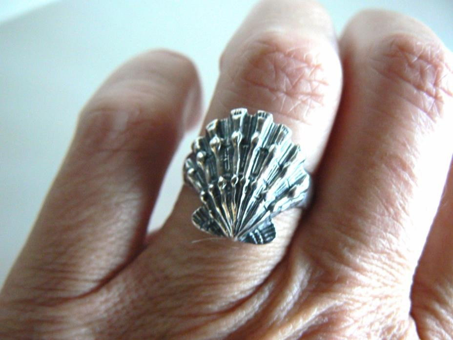 Retired James Avery Sea Shell Ring VINTAGE